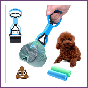 Portable Dog Poop Scooper Waste Jaw Pickup Jaw Easy Cleaning Tool Handle Grabber for Dog and Cat