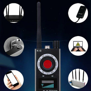 K18 Multi-function Anti-spy Detector Camera GSM Audio Bug Finder GPS Signal Lens RF Tracker Detect Wireless Products EU/US Plug