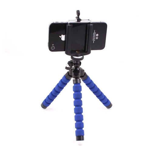 Octopus Tripod Portable Adjustable Flexible Tripod Stand Holder Mount with Clip Accessaries for GoPro/Camera/iPhone/Android Phone