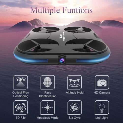 Drone With 720P HD Camera,WIFI FPV Quadcopter With 120° Wide-angle HD Camera,Altitude Hold Mode,Gravity Sensor,One Key Take Off/Landing,Foldable APP Control Pocket Drone RTF