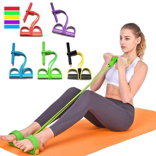 Multi-Function Adjustable Tension Rope Fitness Elastic Resistance Band