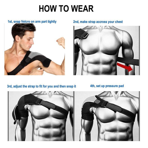 Adjustable Left/Right Shoulder Bandage Protector Brace Joint Pain Injury Shoulder Support Strap Training Sports Equipment