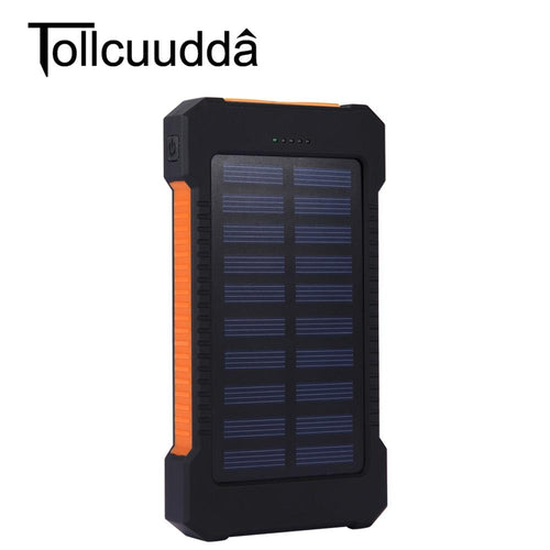 Solar Charger, 25000mAh Battery Solar Power Bank Portable Panel Charger with 36 LEDs and 3 USB Output Ports External Backup Battery for Camping Outdoor for iOS Android