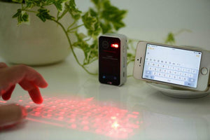 Virtual Keyboard Bluetooth Laser Projection Keyboard for Smartphone PC Tablet Laptop Computer English QWERTY Keyboard