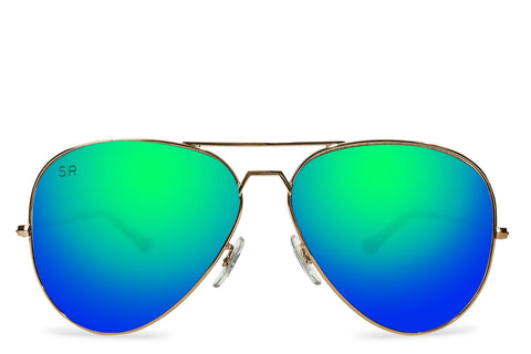Aviator - Emerald Gold Polarized