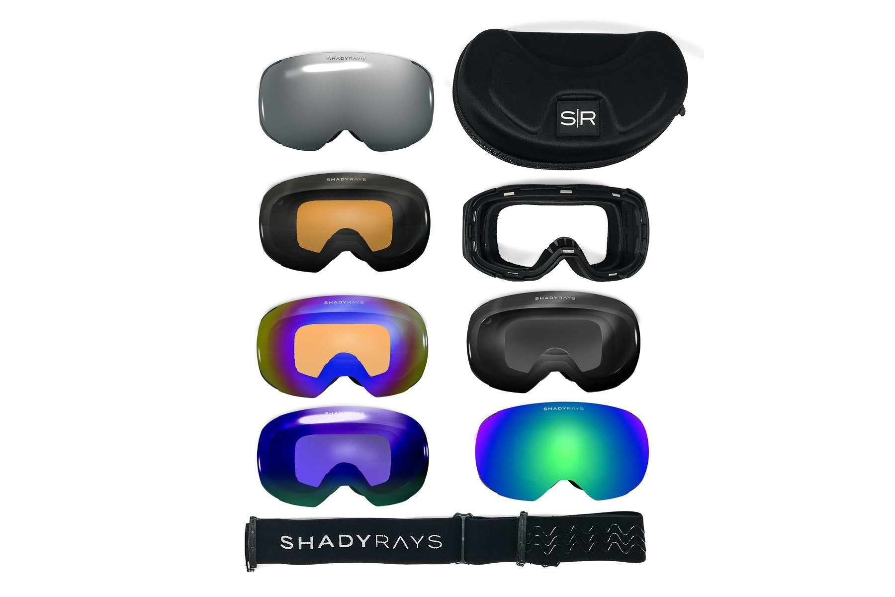 Shady Rays Snow Goggles, All Weather Essentials + Color Pop