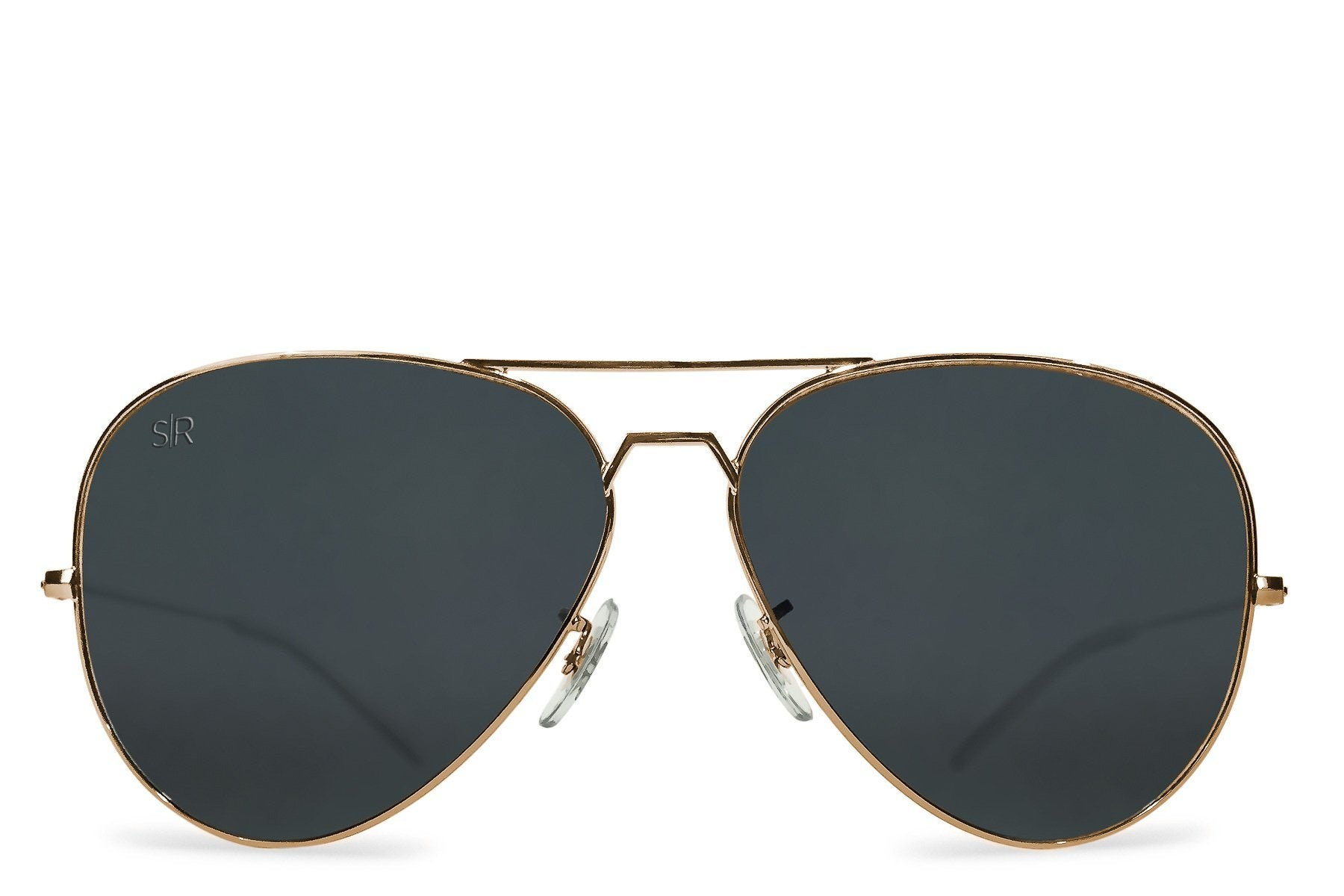 547ab1996e5c1 Aviator Elite - Black Gold Polarized – Shady Rays®