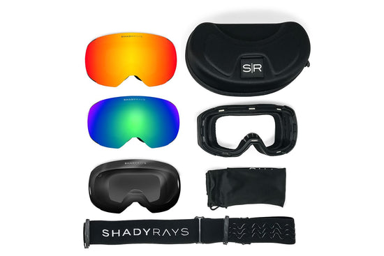 Shady Rays Snow Goggles Bluebird Non-Polarized Pack
