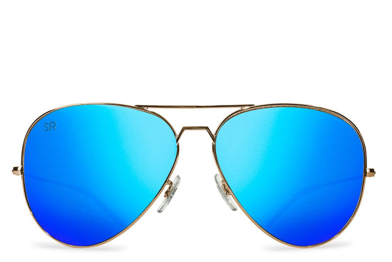 Aviator - Sky Gold Polarized + Hardcase