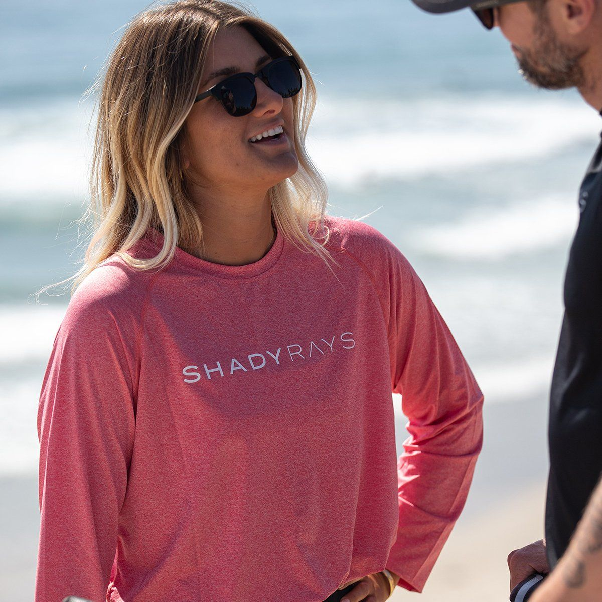 UV Protection Long Sleeve - Coral