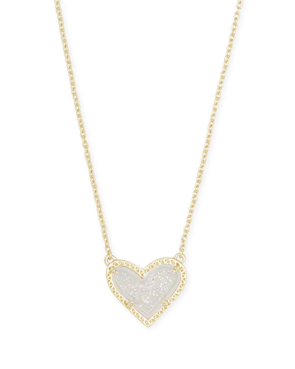 KS Ari Heart Short Necklace Drusy