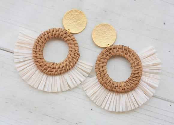 Vir Wicker Fan Earring