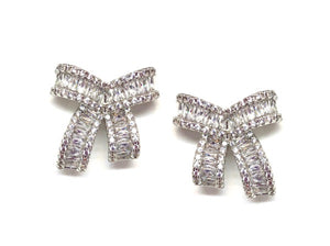 AC Pave Ribbon Earrings