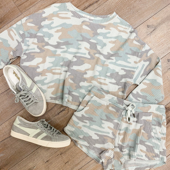 ZS Celine Camo Long Sleeve Crop
