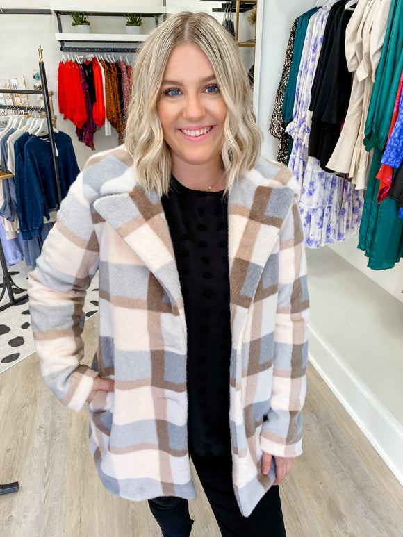 ZS Carmen Plaid Coat