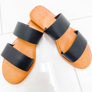 Moonbeam 2 Band Black Sandal