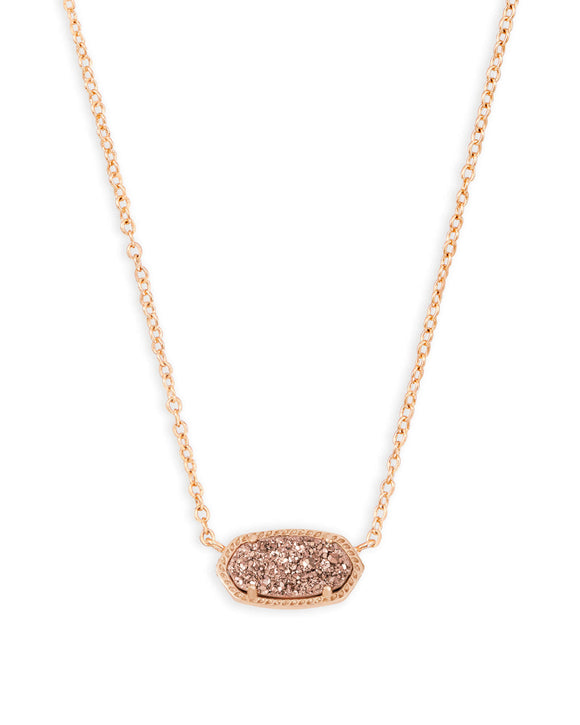 KS Elisa Necklace Rose Gold Drusy