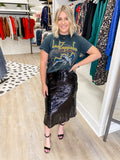 Cardi Black Sequin Skirt