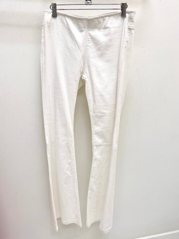 Pull On Flare Jean White