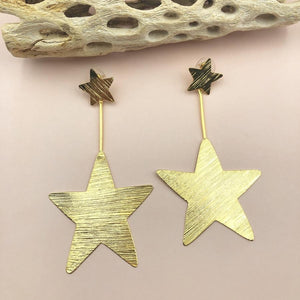 TJ Gold Star Earrings