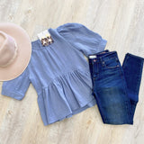 Puff Sleeve Babydoll Top