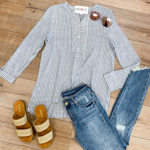 Way Outta Line Stripe Top
