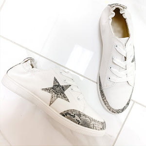 Lauren Star Snake Print Sneakers
