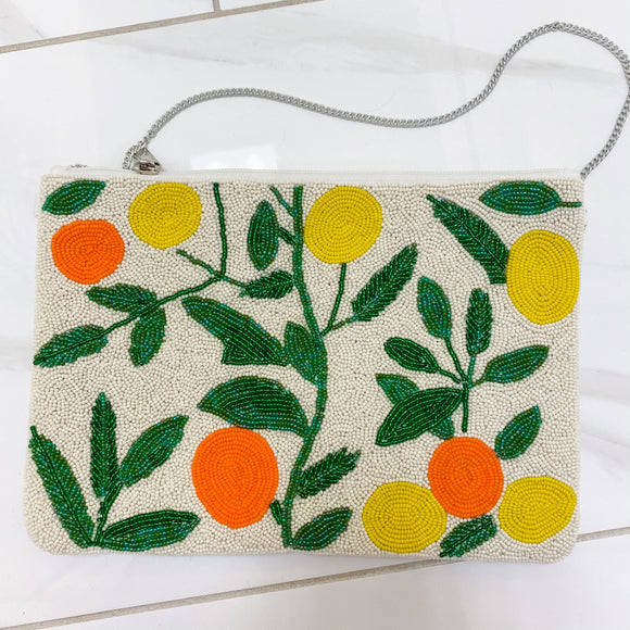 TJ Limon Naranja Beaded Bag