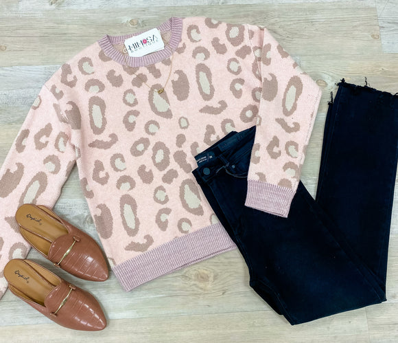 Pastel Leopard Sweater