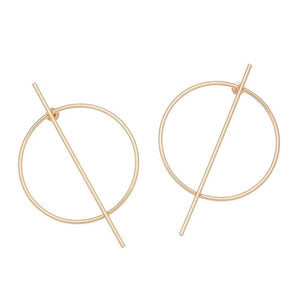 SJD Alex Bar Hoops Earrings