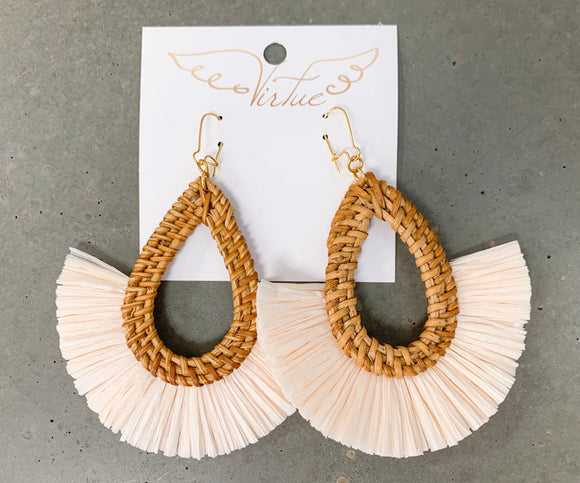 Vir Wicker Fringe Earring