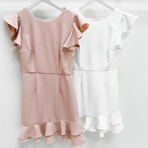 Tiered Ruffle Hem Cocktail Dress