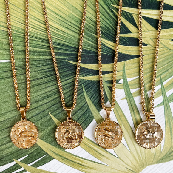 SJD Zodiac Coin Necklace
