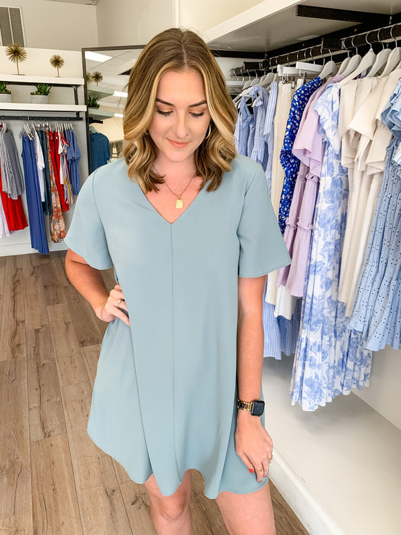 Vneck Tunic Pocket Dress