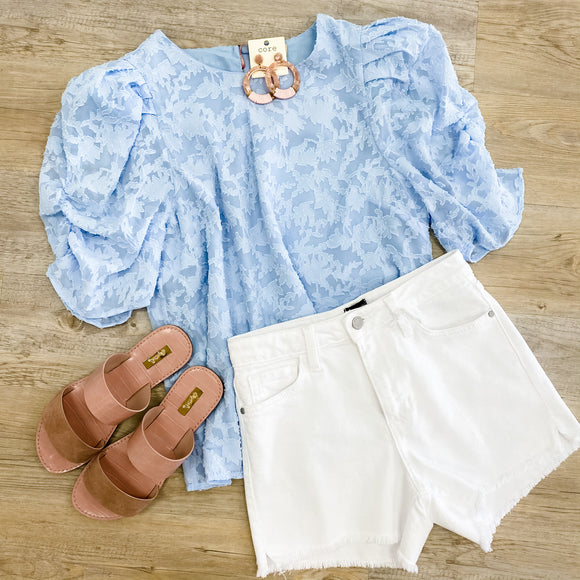 Lace Puff Sleeve Blouse