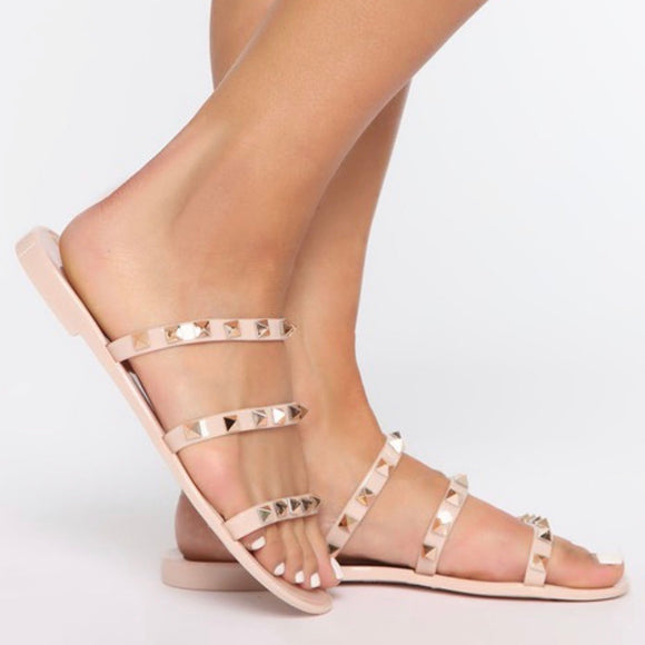 Studed Jelly Sandal