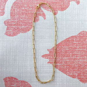 "Vir Large Paperclip 15"" Chain Necklace"