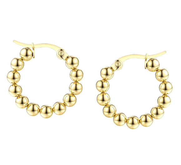 AC Gold Ball Small Hoops
