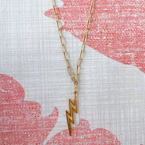 Vir Lightening Bolt Necklace