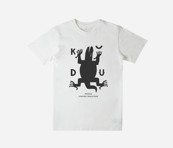 KUDU Coffee: White Crocodile T-shirt