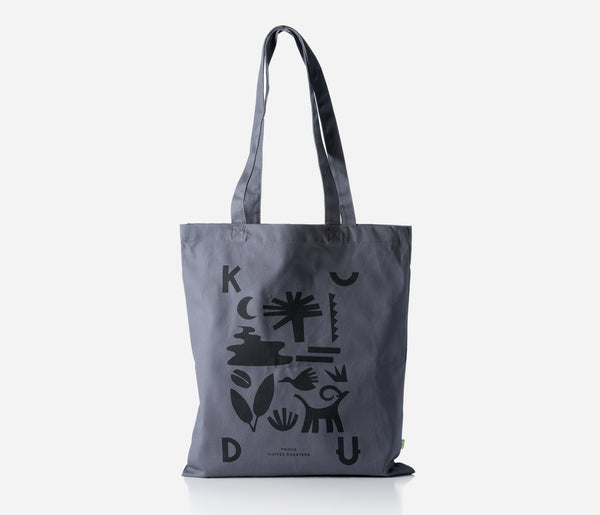 KUDU Coffee: Graphite Grey Tote Bag