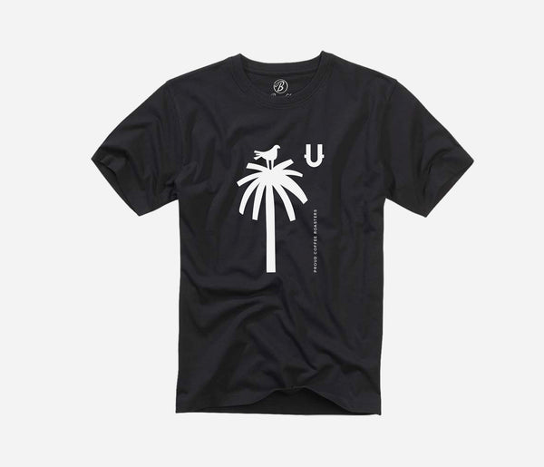 KUDU Coffee: Black Palm Tree T-shirt