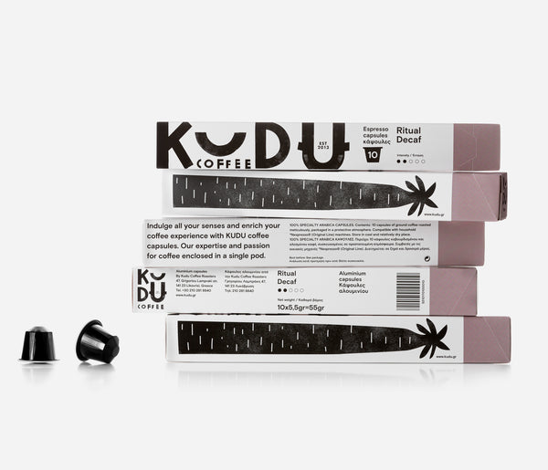 KUDU Coffee: Ritual / Decaf 50 Espresso Pods