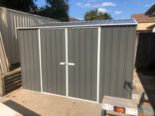 Load image into Gallery viewer, 3.0 x 3.0 x 1.8-2.1 Zinc-Colour gardshed Double door with EXTRA Tall option  Supplied, Delivery and installation