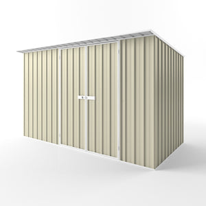3.75 x 1.9 x 2.1-1.75 Skillion Double door Gardenshed Zinc, Smooth Cream, Mist Green and Slate grey available Supplied, Delivery and Installation