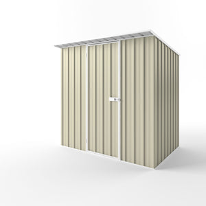 2.25 x 1.5 x 2.1-1.8 skillion Single Door Gardenshed Zinc-Colour Supplied, Delivery and installation