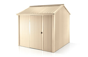 3.30 x 2.54 x 1.95-2.3 Premium Shed Single Door Supplied, Delivery and Installation