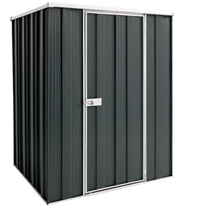 1.41 x 1.41 x 1.8 Flat Roof Gardenshed Zinc-Colour Supplied, Delivery and Installation