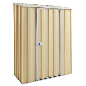 1.4 x 0.70 x 1.8-1.97 skillion Single Door Gardenshed Zinc- Colour Supplied, Delivery and Installation