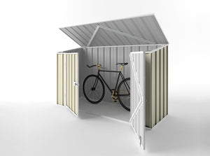 2.25 x 0.78 x 1.31-1.5 Bike shed Double Door Supplied, Delivery and installation